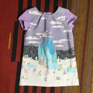 Genuine Kids Oshkosh Printed Castle Dress Sz 4T